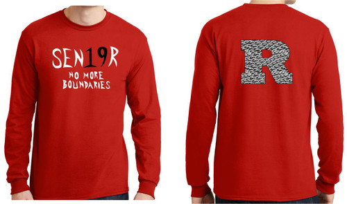 RHS Senior 2019 Long Sleeve T-shirt with chain link R