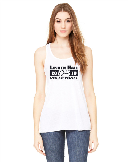 Linden Hall Volleyball Flowy Racerback Tank