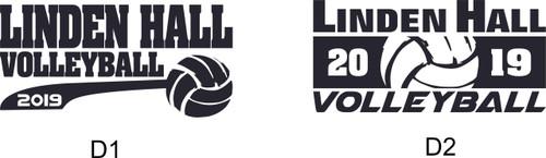 Linden Hall Volleyball Shadow Tonal Heather Hoody