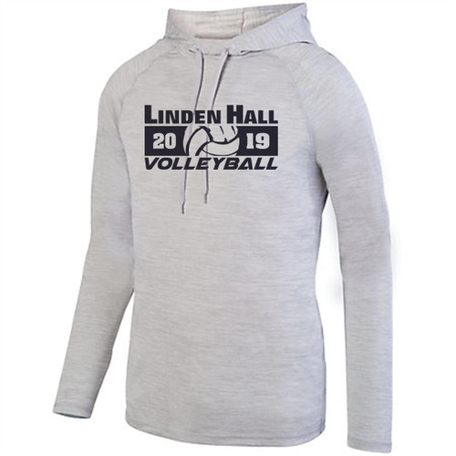 Linden Hall Volleyball Shadow Tonal Heather Hoody