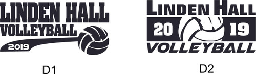 Linden Hall Volleyball Triblend T-shirt