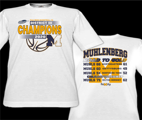 2020-Muhl Basketball District Championship T-shirt