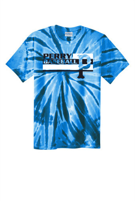 2021 New-Perry Baseball Tie Dye T-shirt