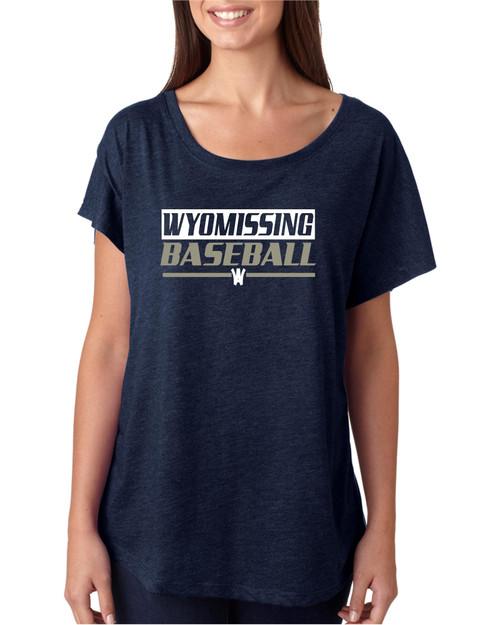 Wyomissing Baseball Flowy Dolman shirt
