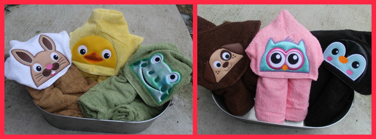 Animal Toppers Part 1 Perfect For Hooded Towels Machine Embroidery