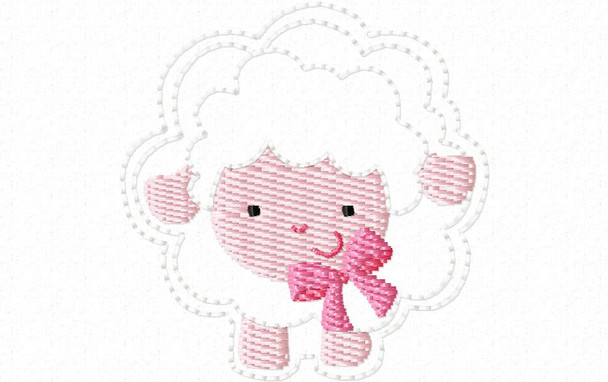 "FARM FELTIE sheep 1.5X1.5 & 2""X2"" MACHINE EMBROIDERY DESIGN"