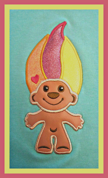 Troll APPLIQUE MACHINE EMBROIDERY DESIGN 5X7 & 6X10
