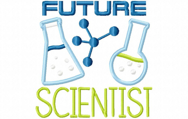 Future Scientist Nerd, Geek Word Art MACHINE EMBROIDERY DESIGN 4X4, 5X7 & 6X10