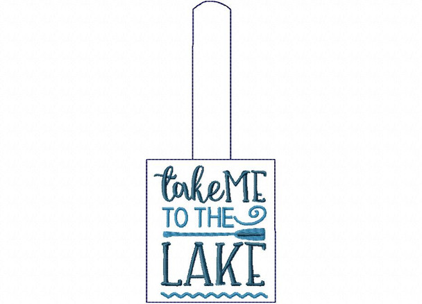 Take Me To The Lake Snap Tab In The Hoop Machine Embroidery Design 5X7