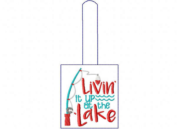 Livin It Up In The Lake Snap Tab In The Hoop Machine Embroidery Design 5X7