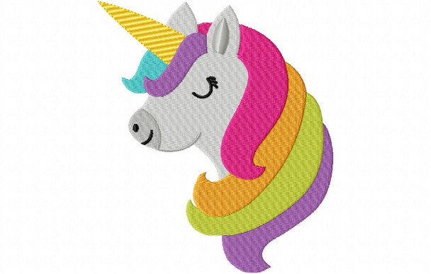 Unicorn Head MACHINE EMBROIDERY DESIGN 4X4, 5X7 & 6X10