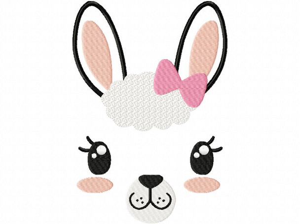 Hairbow llama Face MACHINE EMBROIDERY DESIGN 4X4, 5X7 & 6X10