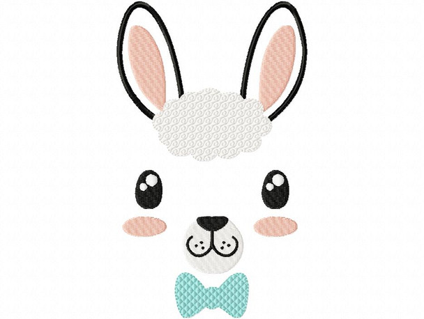 Bowtie llama Face MACHINE EMBROIDERY DESIGN 4X4, 5X7 & 6X10