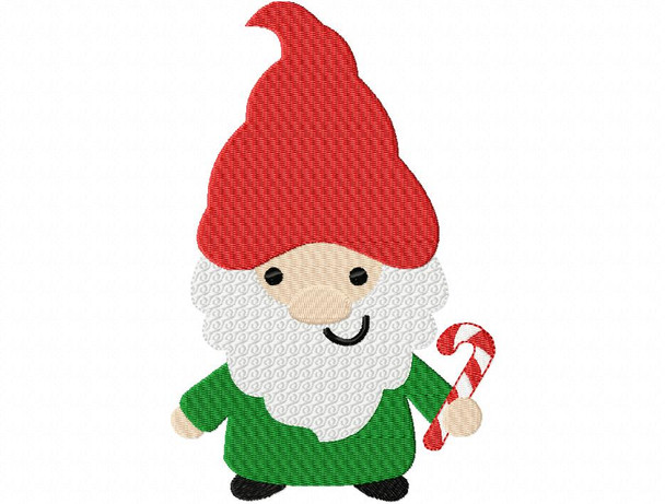 Gnome Elf Christmas MACHINE EMBROIDERY DESIGN 4X4, 5X7 & 6X10