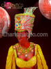 CHARISMATICO Classic Golden Orange Accented Egyptian Nobility Diva Drag Queen Headdress