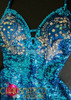 CHARISMATICO Adjustable Halter style Blue sequin and crystal Latin Salsa Dress