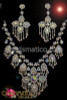 delicate rhinestone and iridescent Crystal floral necklace and matching earrings