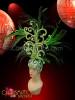 CHARISMATICO Brazilian Three Piece Diva'S Headdress, Patchwork Bra And Feather Belt Set