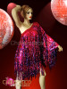 CHARISMATICO Asymmetrical Fuchsia And Purple Sequin Fringe Diva'S Drag Queen Dress