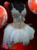 "CHARISMATICO Angelic €Œsnow Queen"" Ballet Inspired White Dress With Crystal And Feathers"