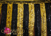 CHARISMATICO Black and gold beaded Go-Go bra and sequined fringe skirt