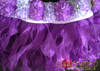 CHARISMATICO Purple Floral Halter Bra And Matching Organza Flame Ruffled Skirt