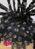CHARISMATICO Black crystal covered twig like showgirl's cabaret headdress