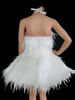 CHARISMATICO Ballet Style Crystal And Bead Accented White Swan Feather Dress