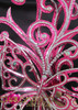 CHARISMATICO Diva Showgirl Mirror Tiled Crystallized Swirled Pink Glitter Butterfly Headdress