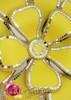CHARISMATICO Burlesque Mirror Tile Trimmed Bright Yellow Flower Springtime Diva Headdress