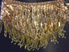 CHARISMATICO Beaded Fringe Teardrop Sequin Belly Bra With Matching Mini Skirt