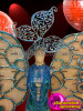 CHARISMATICO Blue Butterfly Themed Costume Set With Silver And Crystal Accents