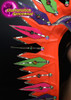 CHARISMATICO Brightly Accented Neon Orange Spiked Mohawk Diva Drag Queen Headdress