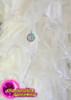 CHARISMATICO Cream Organza Ruffle Diva Jacket With Matching Floor Length Skirt