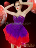 CHARISMATICO beautiful fish purple corset with red feather skirt