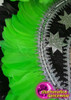 CHARISMATICO Awesome diva queen's dance headdress in neon green and black