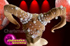 CHARISMATICO Awesome movie prop dance diva's stylish skin horned headdress
