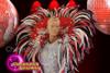 CHARISMATICO Beautiful gorgeous dazzling red feather samba backpack
