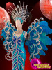 CHARISMATICO Blue Breathtaking Fantastic Ravishing Enchanting Diva Sequin Costume Set