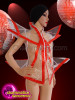 CHARISMATICO  Futuristic Geometric Transparent Jacket With Red Outline