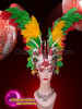 CHARISMATICO Add Charm To The Atmosphere With This Multi-Colored Feathered Headdress