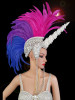 CHARISMATICO  Fuchsia Purple Feather Unicorn Mohawk Headdress