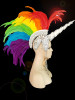 CHARISMATICO  Lgbt Rainbow Gay Pride Unicorn Mohawk Headdress
