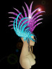 CHARISMATICO  Blue Purple Spiky Mohawk Headdress