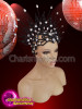 Charismatico  Black And Silver Glittery Cap Headdress