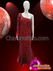 CHARISMATICO  Absolute Red Diva Gown With Complete Crystal Accented
