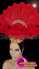 CHARISMATICO  Fascinating Fan Headdress With Sequin Work And Presence Of Red Roses