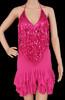 Fuchsia Salsa Dance ruffle Dress Clearance Us 2-6