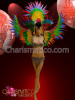 CHARISMATICO Brightly Color Feather Rainbow Gay Pride Headdress and Drag queen Wing Set