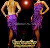 Purple Red SALSA DANCE Dress